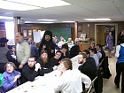 Fr. Michael socializing with St. Tikhon's seminarians and the faithful of St. Nicholas Church